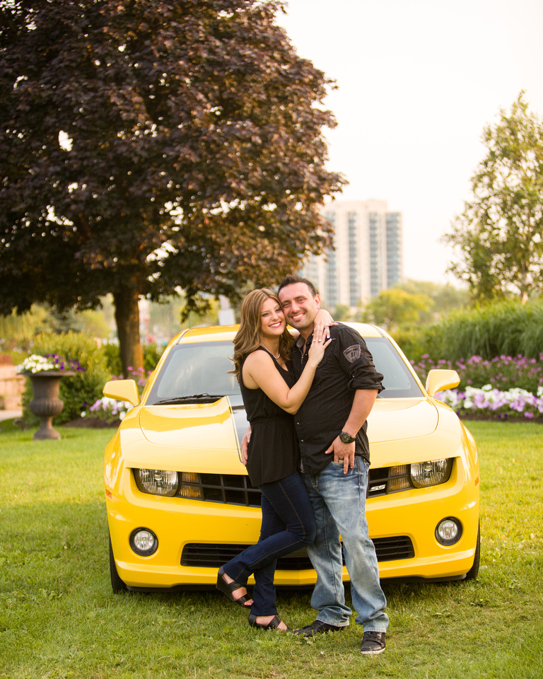 Chevrolet Camaro SS Engagement photo, Barrie Ontario