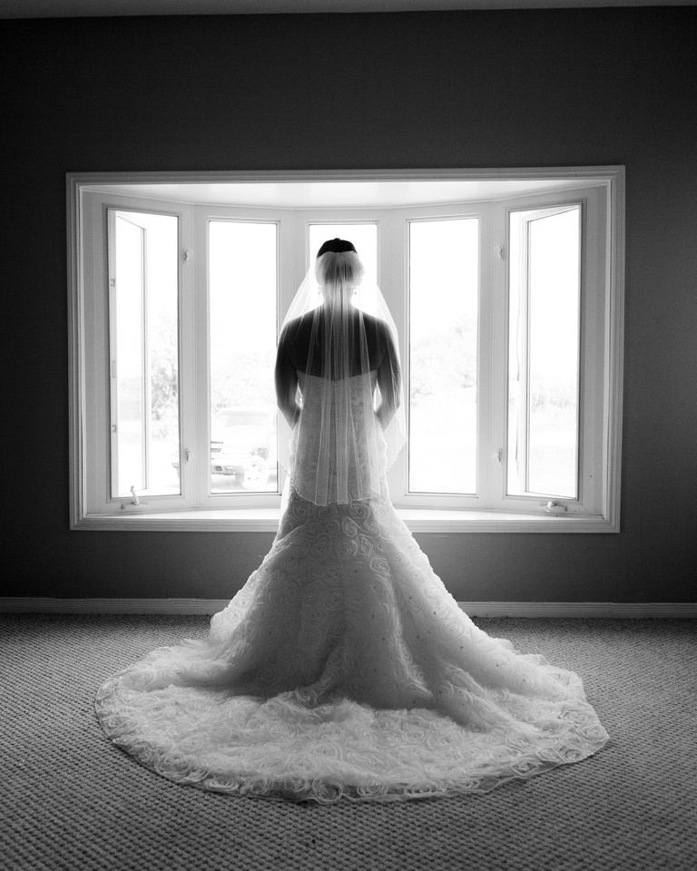 Bride waiting for the ceremony to start.