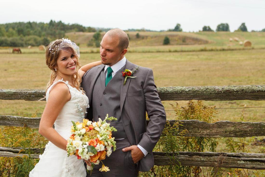Outdoor wedding, Mono Ontario