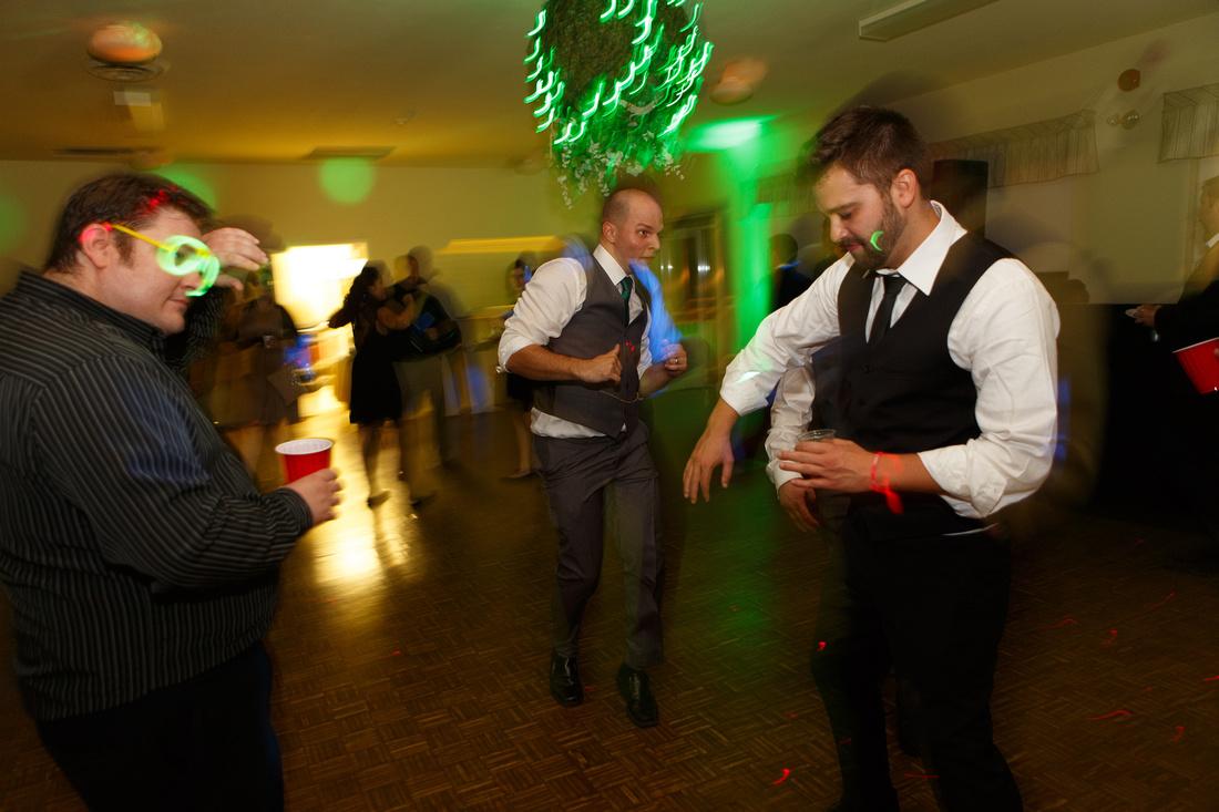 Running man, wedding reception
