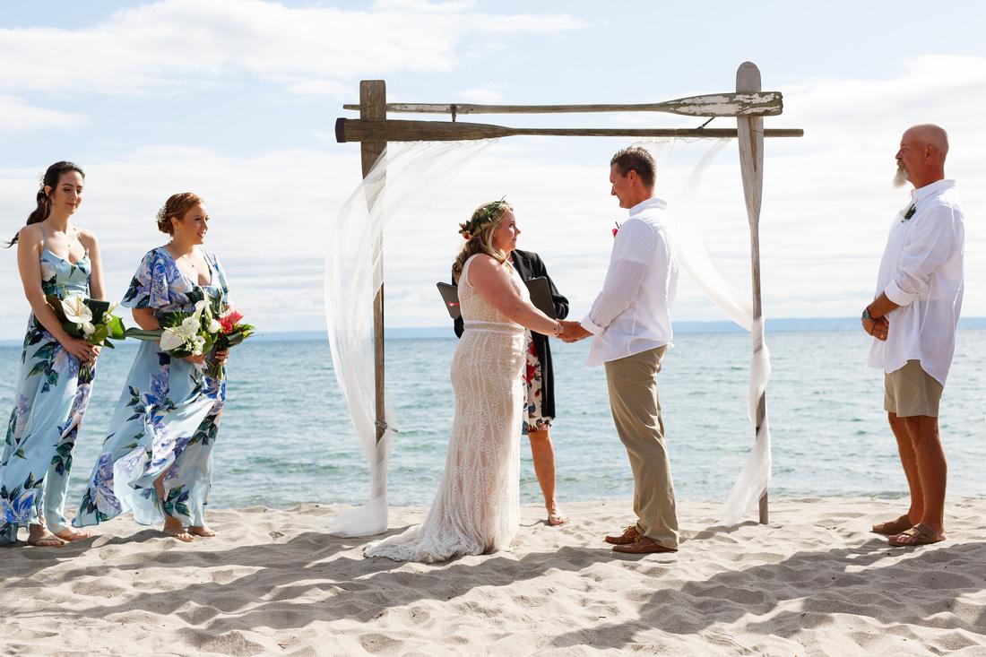 Beach wedding, Ontario