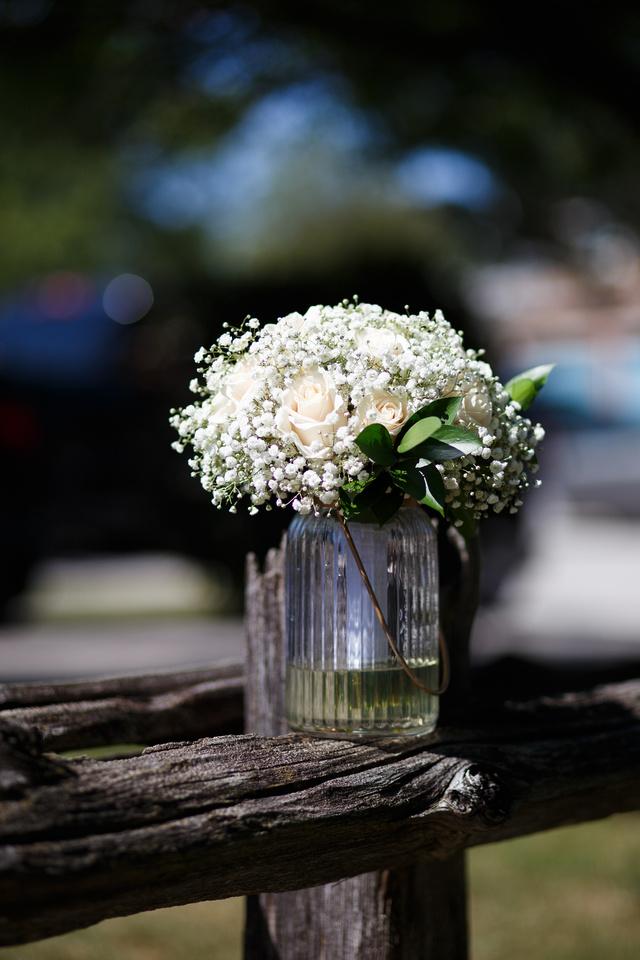 Wedding Bouquet outside