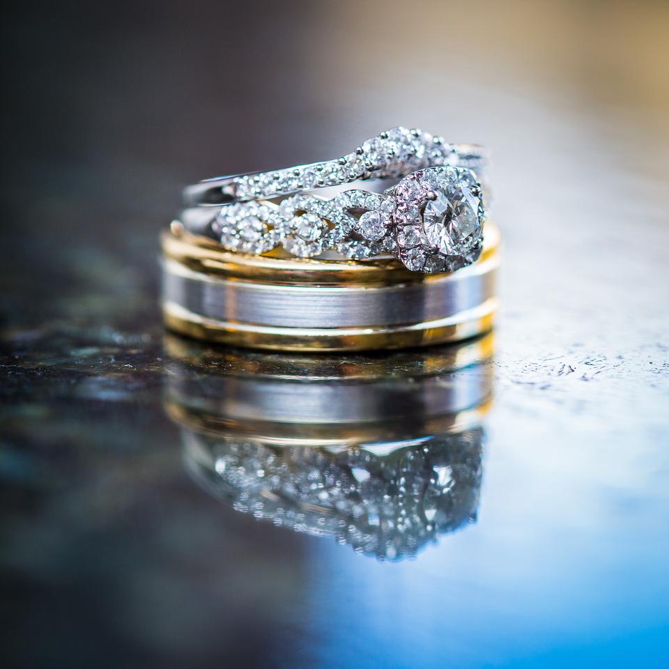 Wedding macro photography