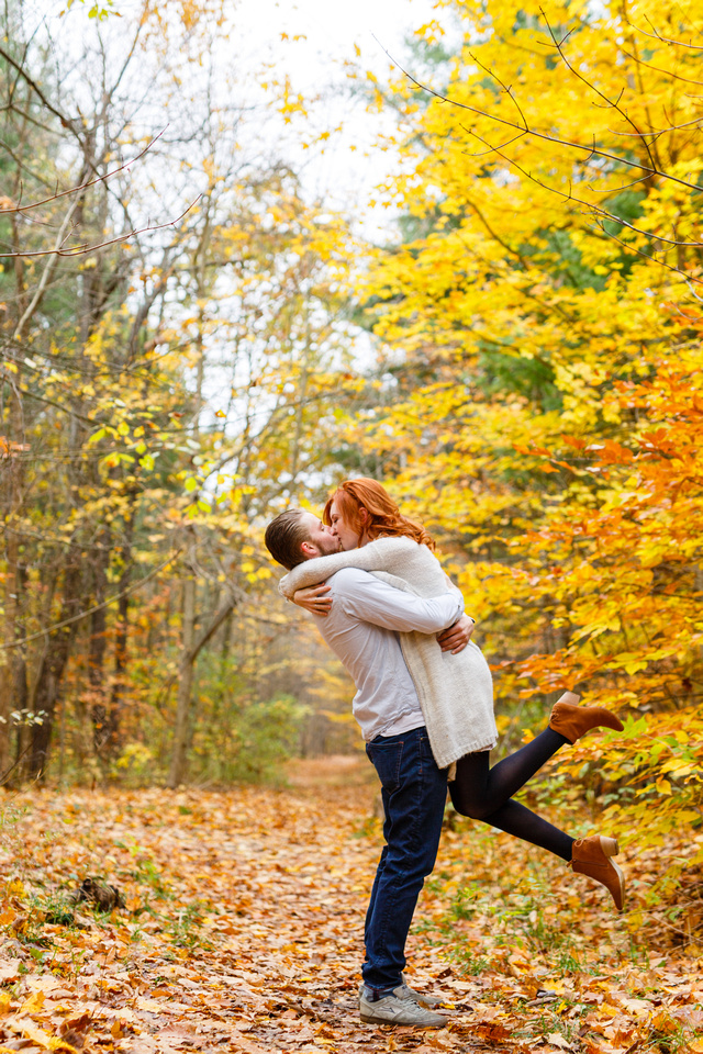 Fall Engagement - Barrie Photographer